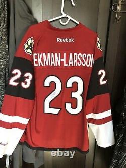 Oliver Ekman-Larsson Autographed Arizona Coyotes Reebok Premier Jersey