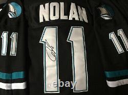 Owen Nolan Black SJ Jersey Signed Autographed JERSEY JSA WP Certified NHL