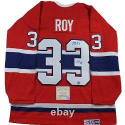 PATRICK ROY SIGNED CCM JERSEY HOFwithCOA Montreal Canadiens Autographed Authentic
