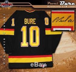 PAVEL BURE Signed Vancouver Canucks Black CCM Retro Jersey
