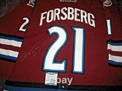 PETER FORSBERG Signed AVALANCHE KOHO AUTHENTIC GAME JERSEY with Beckett COA
