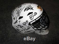 PITTSBURGH PENGUINS 2019 Team SIGNED Goalie Mask Helmet COA Crosby Malkin Murray