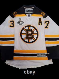 Patrice Bergeron Boston Bruins signed Stanley Cup Finals authentic jersey