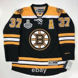 Patrice Bergeron Signed 2011 Boston Bruins Stanley Cup Rbk Premier Jersey Coa XL