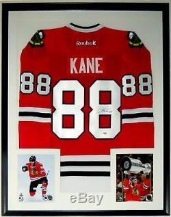 Patrick Kane Autographed Authentic Premier Blackhawks Jersey Psa Dna Coa Framed