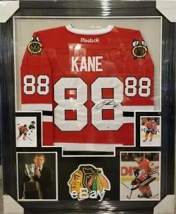 Patrick Kane Chicago Blackhawks Autographed Framed Jersey. Psa Coa