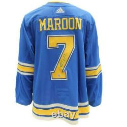 Patrick Maroon St Louis Blues NHL Autographed Adidas Heritage Jersey