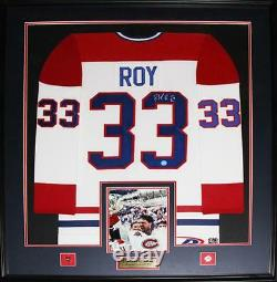 Patrick Roy Montreal Canadiens Signed jersey NHL Hockey Collector Frame