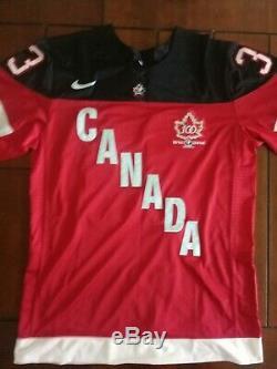 Patrick Roy Signed Hockey Jersey Team Canada Coa Size XL