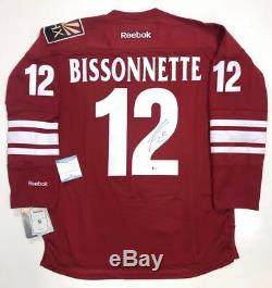 Paul Bissonnette Signed Phoenix Coyotes Rbk Jersey Beckett Coa Spittin Chiclets