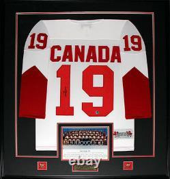 Paul Henderson 1972 Team Canada Summit Series Signed Hockey Jersey Frame