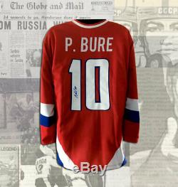 Pavel Bure Team Russia Olympic 1998 Autographed Jersey