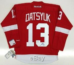 Pavel Datsyuk Signed 2002 Stanley Cup Detroit Red Wings Jersey Psa Coa