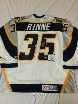 Pekka Rinne Signed Nashville Predators Rookie CCM Jersey Beckett Bas Coa S08676