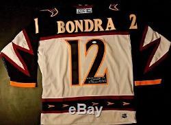 Peter Bondra signed Atlanta Thrashers On Ice 48 CCM Jersey Washington Capitals