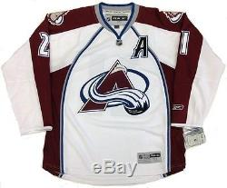 Peter Forsberg Signed Colorado Avalanche 3 Patch 1996 2001 Cup Jersey Psa/dna