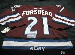 Peter Forsberg signed Authentic Hockey Jersey with COA in Excellent Condition