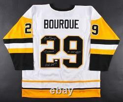 Phil Bourque Signed Pittsburgh Penguins Jersey (Beckett COA)