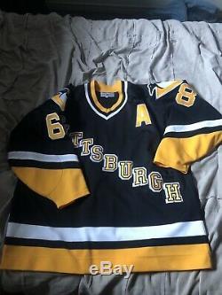Pittsburgh Penguins Diagonal Authentic Jersey 54 Jaromir Jagr