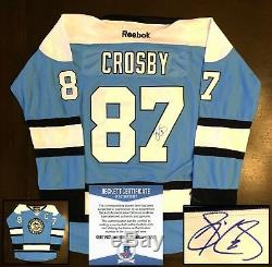 Pittsburgh Penguins Sidney Crosby Signed Jersey NHL Champion Beckett BAS COA