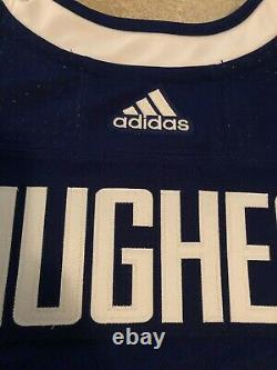 Quinn Hughes Signed Autographed Genuine Adidas Vancouver Canucks Jersey JSA COA