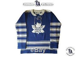 RARE King Clancy Signed Toronto Maple Leafs Vintage CCM Wool Jersey TML 100 2017