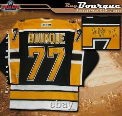 RAY BOURQUE Signed and Inscribed Boston Bruins Black CCM Jersey