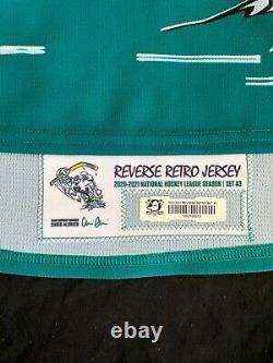 RYAN MILLER Game Worn Used Anaheim Ducks REVERSE RETRO 20-21 Jersey + BONUS
