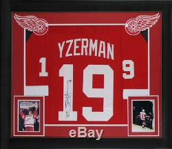 Red Wings Steve Yzerman Authentic Signed Red Framed Jersey Autographed BAS