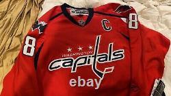Reebok Alexander Ovechkin Signed Capitals Captain Jersey (Beckett COA)