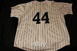 Reggie Jackson 1st homer and 500th homer signed Majestic jersey Yankees withCOA