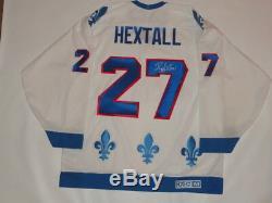Ron Hextall Signed CCM Vintage #27 Quebec Nordiques Jersey Proof Rare Jsa Coa