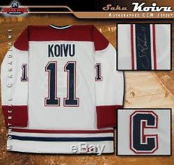 SAKU KOIVU Signed Montreal Canadiens White CCM Jersey with Captain C