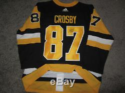 SIDNEY CROSBY Pittsburgh Penguins SIGNED Autographed Adidas JERSEY with COA New 50