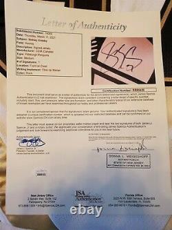 SIDNEY CROSBY signed licensed PENGUINS jersey JSA COA SIZE MEDIUM full letter
