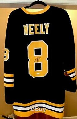 SIGNED AUTOGRAPHED JSA NHL Jersey Boston Bruins Cam Neely Black Throwback XL