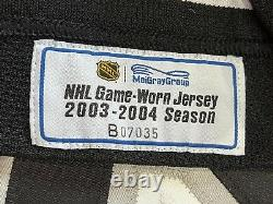 SIMON GAGNE Game Worn Used Jersey PHILADELPHIA FLYERS 2003 / 2004 Season MEIGRAY