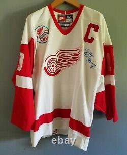 STEVE YZERMAN 1997 Nike Authentic Red Wings Signed Auto Believe Jersey JSA COA