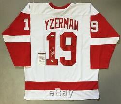 STEVE YZERMAN AUTOGRAPHED SIGNED XL PRO STYLE HOCKEY JERSEY With JSA COA #U59577