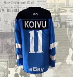 Saku Koivu Team Finland Autographed Jersey