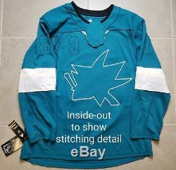 San Jose Sharks Autographed Teal NHL Adidas Hockey Jersey Joe Pavelski Size 52