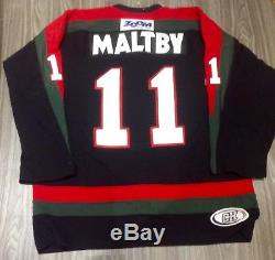 Shawn Maltby EIHL Basingstoke Bison 2005-06 Game Worn Play-Off Jersey