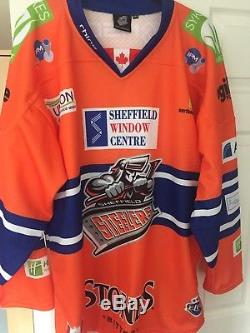 Sheffield Steelers Game Worn Home Jersey 77 Martindale