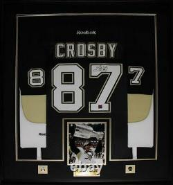 Sidney Crosby Pittsburgh Penguins Signed jersey NHL Hockey Collector Frame