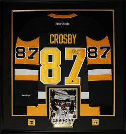 Sidney Crosby Pittsburgh Penguins Signed vintage jersey NHL Hockey Frame