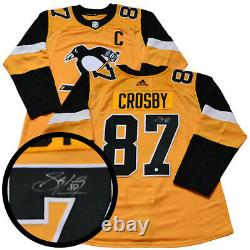 Sidney Crosby Pittsburgh Penguins signed Yellow Pro 3rd 2018-2019 Adidas