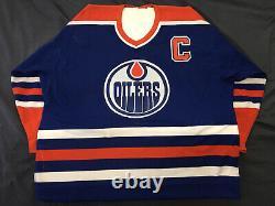Signed Wayne Gretzky Edmonton Oilers Autographed Jersey Double CCM Rare No Coa