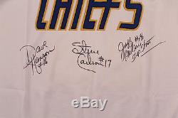 Slap Shot The Hanson Brothers Signed Charlestown Chiefs Jersey PSA/DNA
