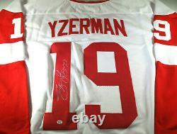Steve Yzerman / Autographed Detroit Red Wings White Custom Hockey Jersey / Coa