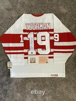 Steve Yzerman Signed Auto Jersey Detroit Red Wings Vintage CCM WithCOA